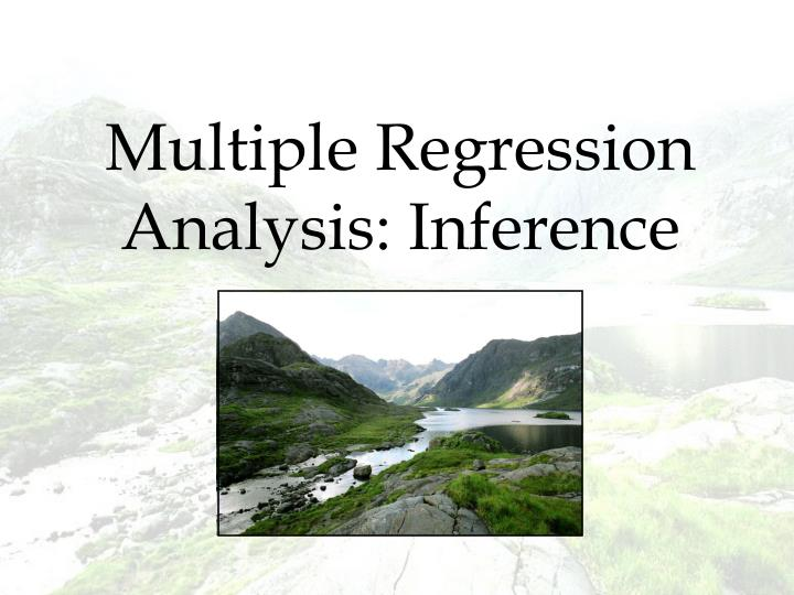 Multiple Regression Analysis: Inference