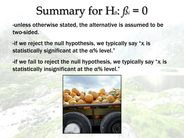 Summary for H