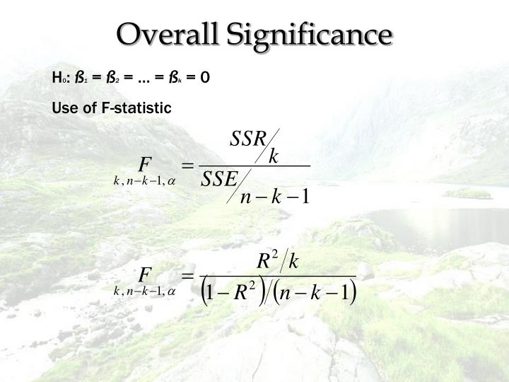 Overall Significance