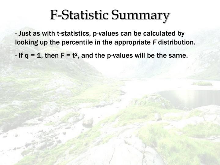F-Statistic Summary
