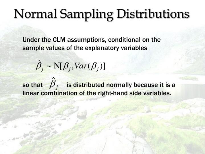 Normal Sampling Distributions