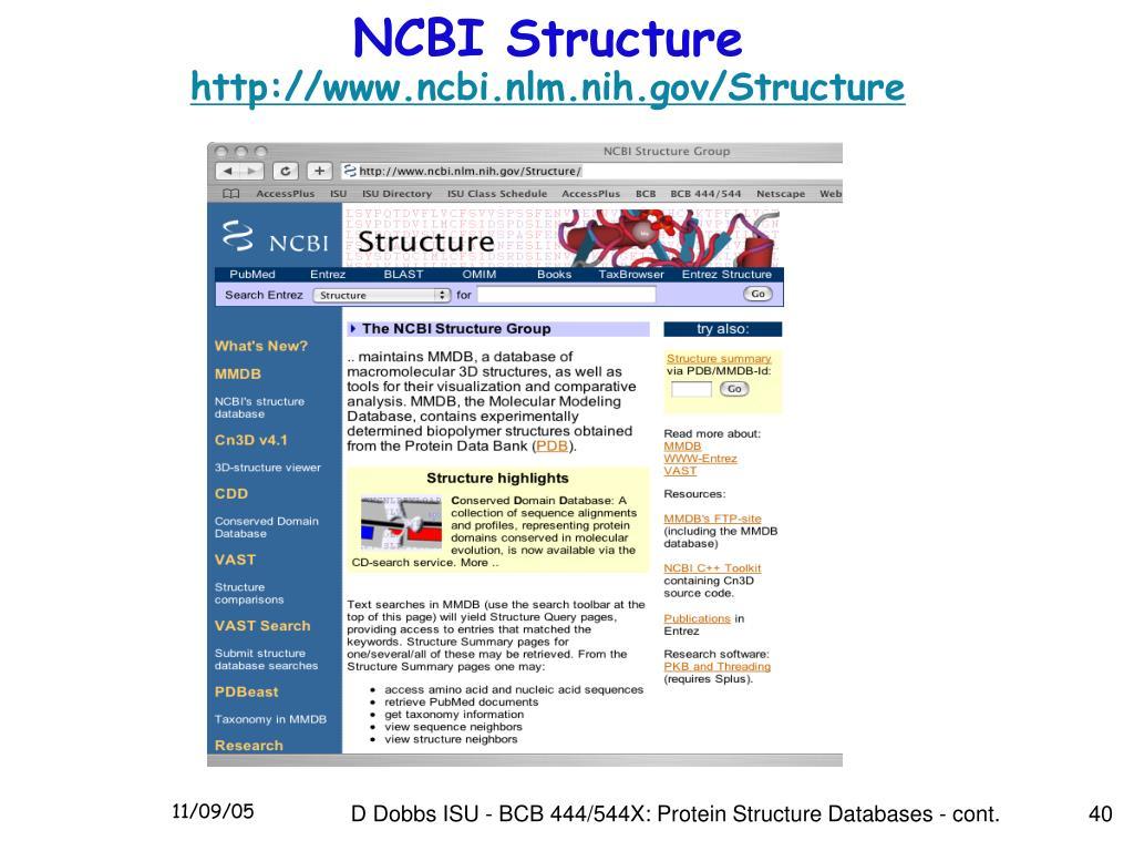 NCBI Structure