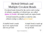 hybrid orbitals and multiple covalent bonds