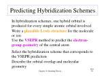 predicting hybridization schemes