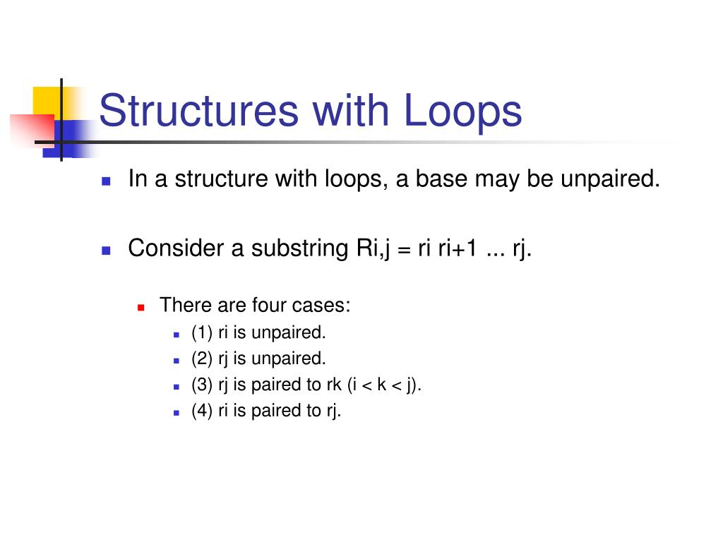 Structures with Loops
