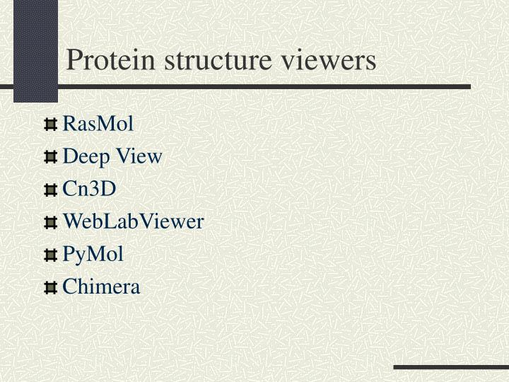 Protein structure viewers