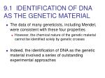 9 1 identification of dna as the genetic material5