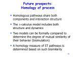 future prospects homology of process