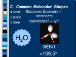 c common molecular shapes11