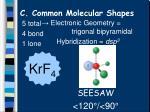 c common molecular shapes13