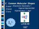 c common molecular shapes15