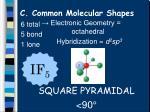 c common molecular shapes17