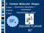 c common molecular shapes18