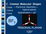 c common molecular shapes7