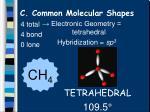 c common molecular shapes9