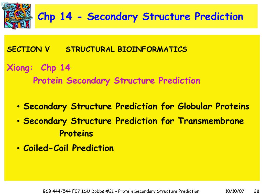 Chp 14 - Secondary Structure Prediction