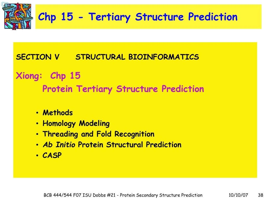 Chp 15 - Tertiary Structure Prediction