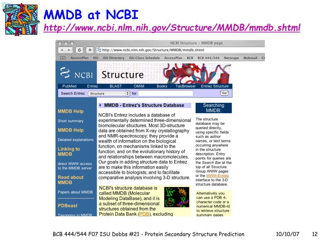 MMDB at NCBI