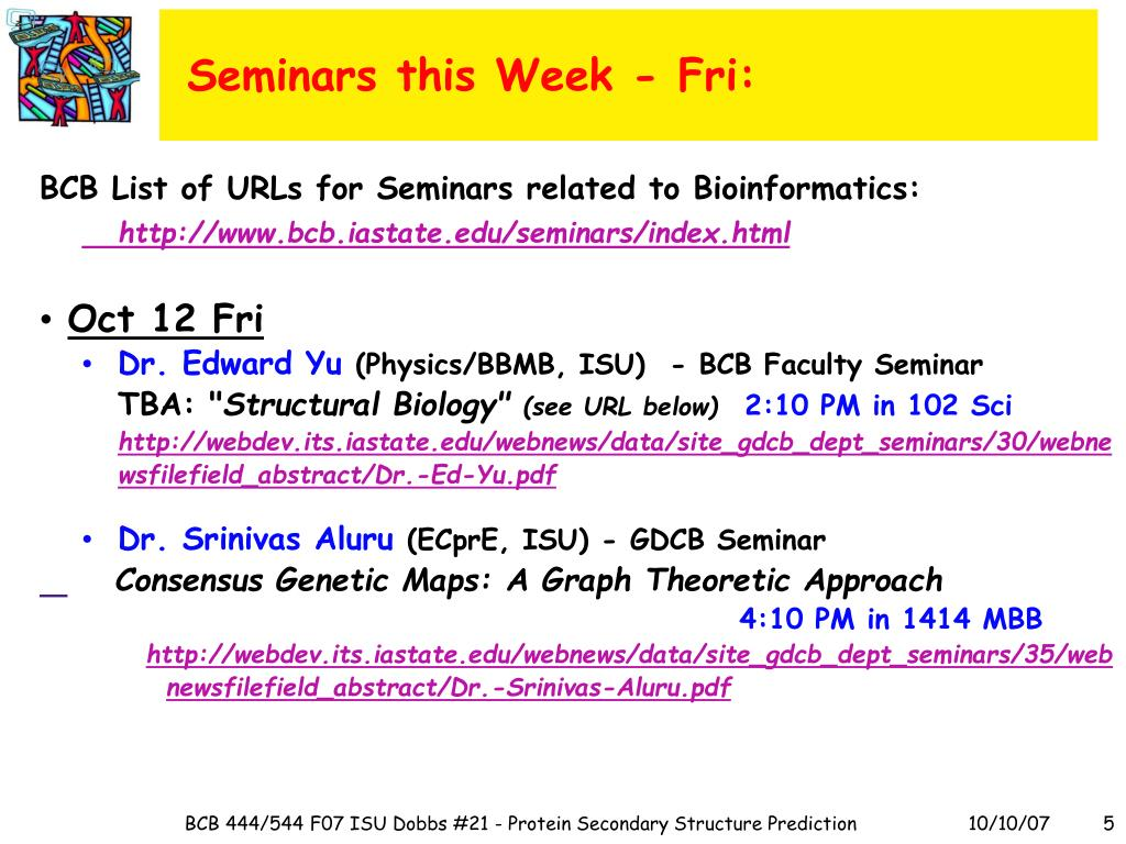 Seminars this Week - Fri: