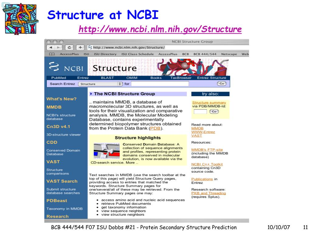Structure at NCBI