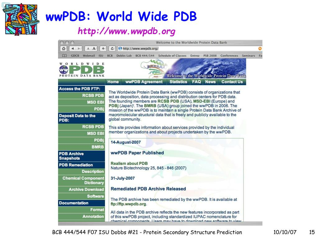 wwPDB: World Wide PDB