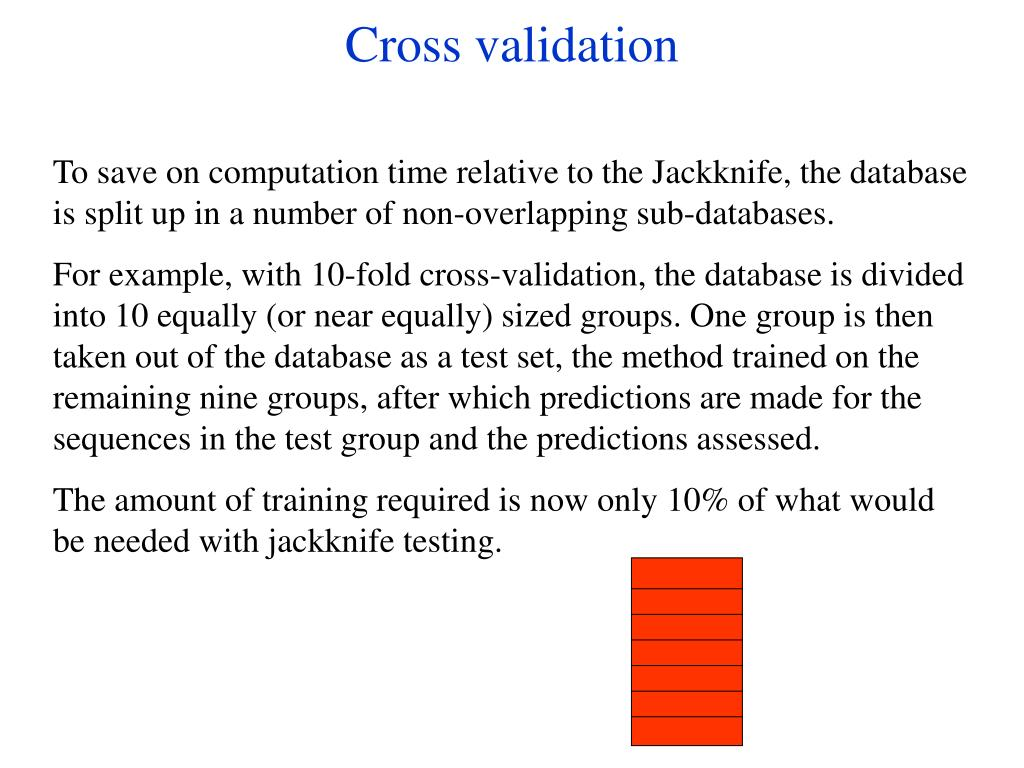 Cross validation