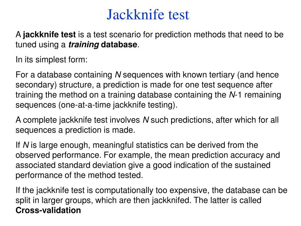 Jackknife test