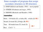 some examples of programs that assign secondary structures in 3d structures