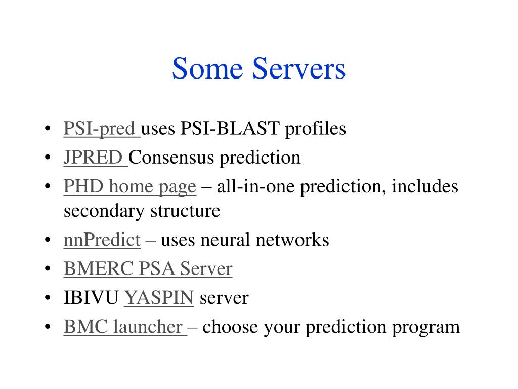 Some Servers