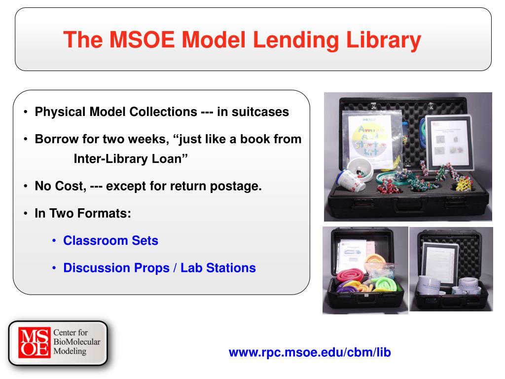 The MSOE Model Lending Library