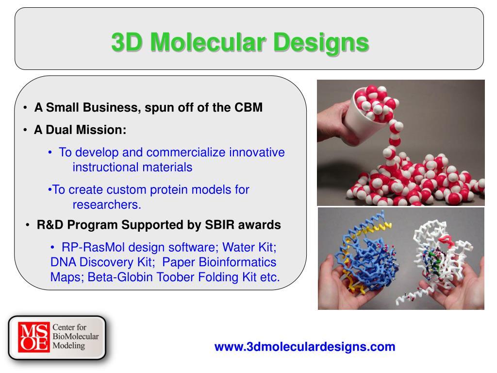 3D Molecular Designs