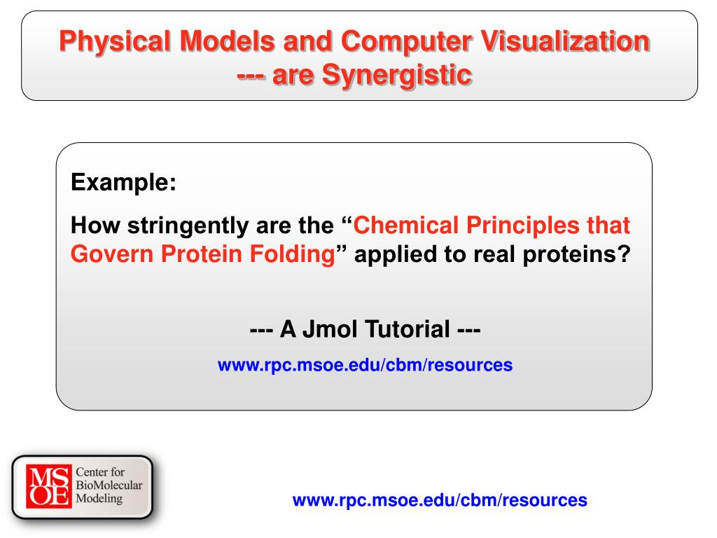 Physical Models and Computer Visualization --- are Synergistic