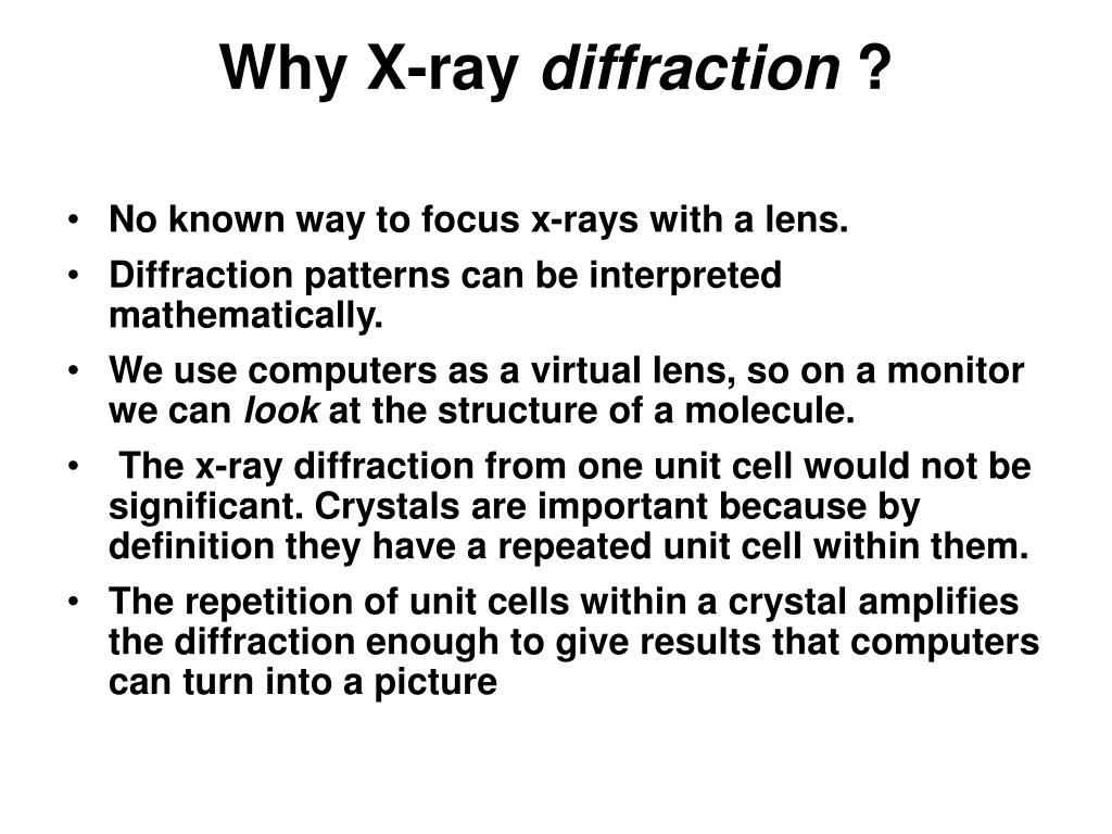 Why X-ray