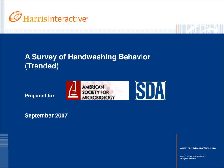 A survey of handwashing behavior trended