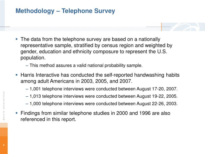 Methodology telephone survey