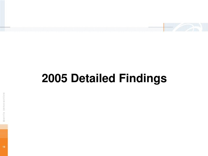 2005 Detailed Findings