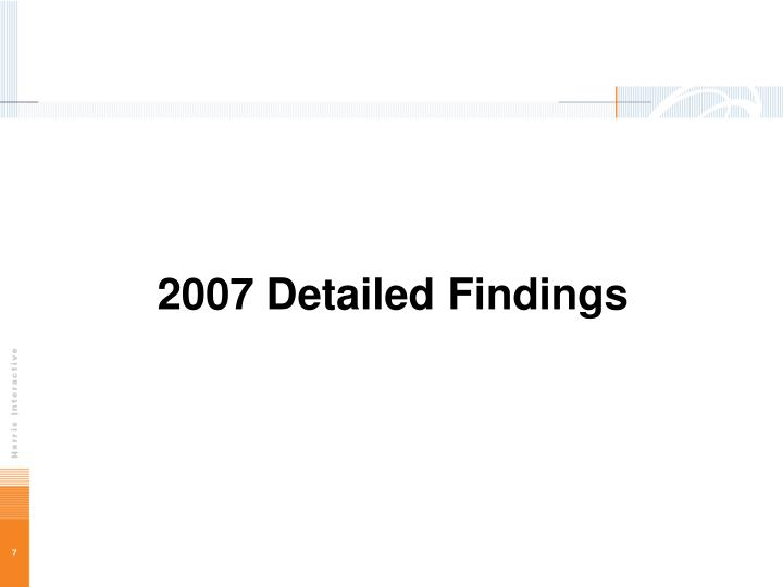 2007 Detailed Findings