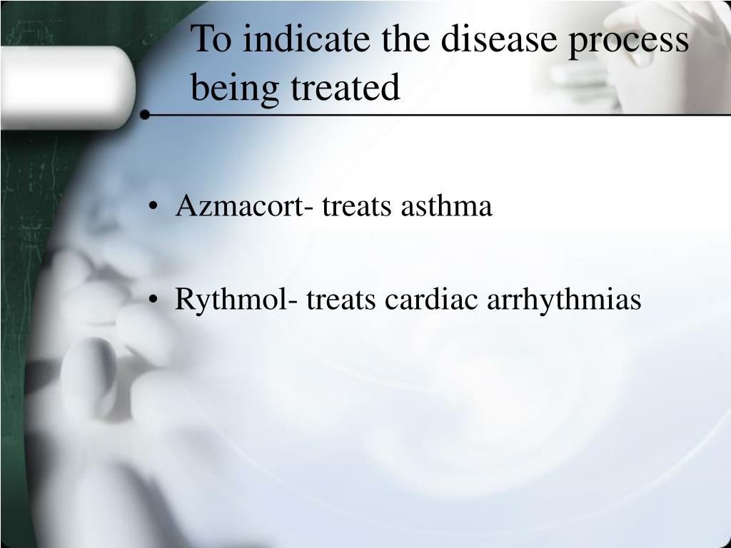 To indicate the disease process being treated