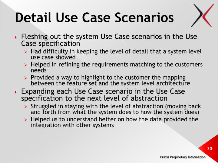 Detail Use Case Scenarios