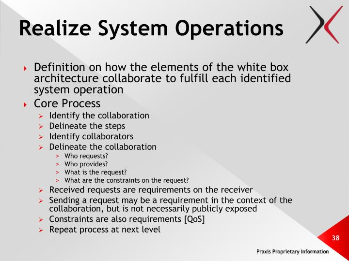 Realize System Operations