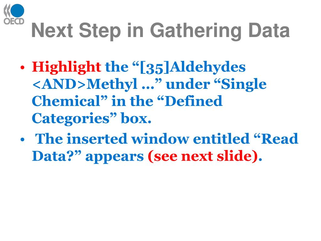 Next Step in Gathering Data