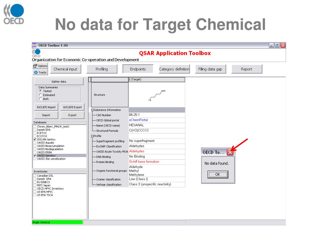 No data for Target Chemical