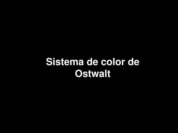 Sistema de color de Ostwalt