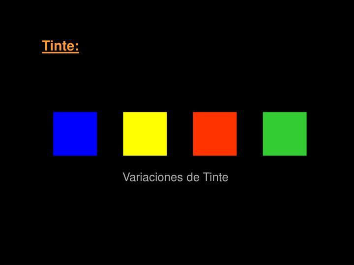 Tinte: