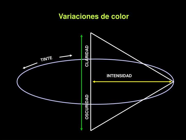 Variaciones de color