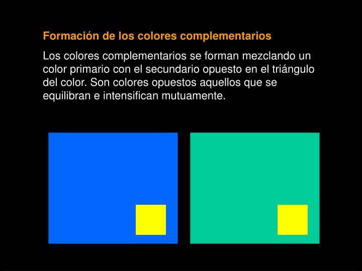 Formación de los colores complementarios