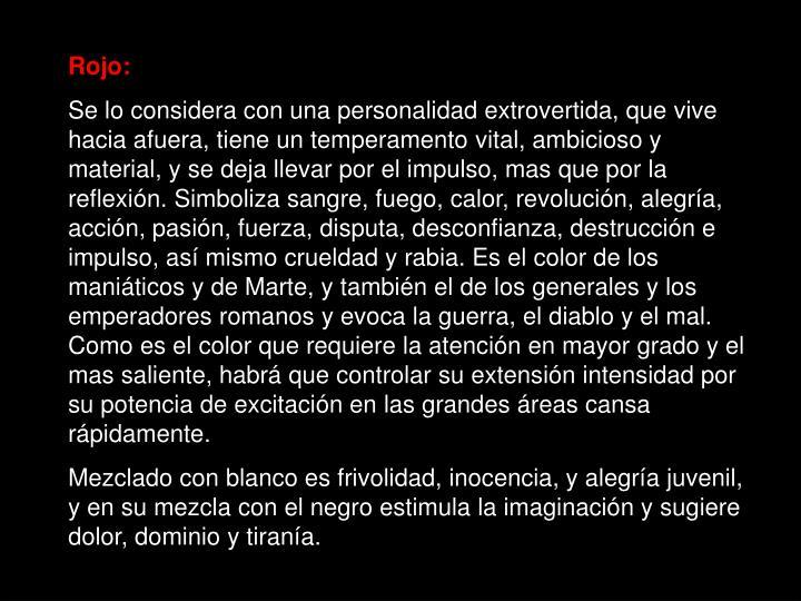 Rojo: