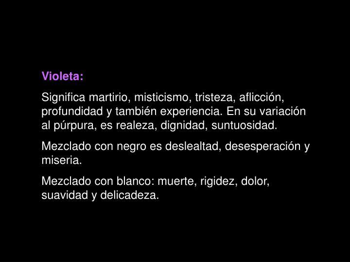 Violeta: