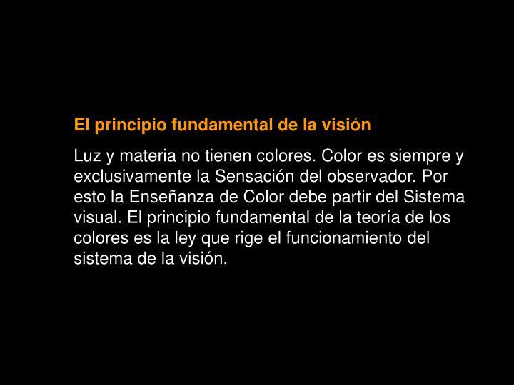 El principio fundamental de la visión