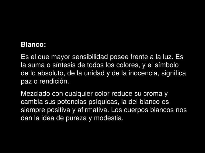 Blanco: